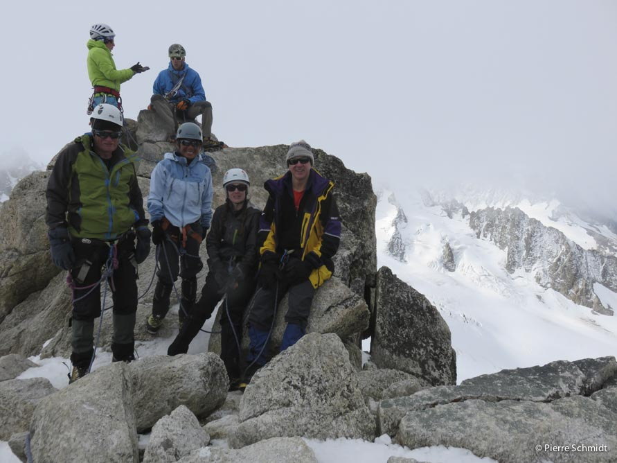 Aiguille du Tour summit during a 6 day Mont Blanc course